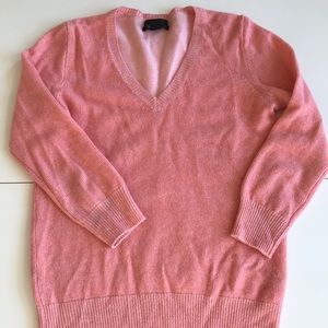JCrew Salmon pink cashmere sweater